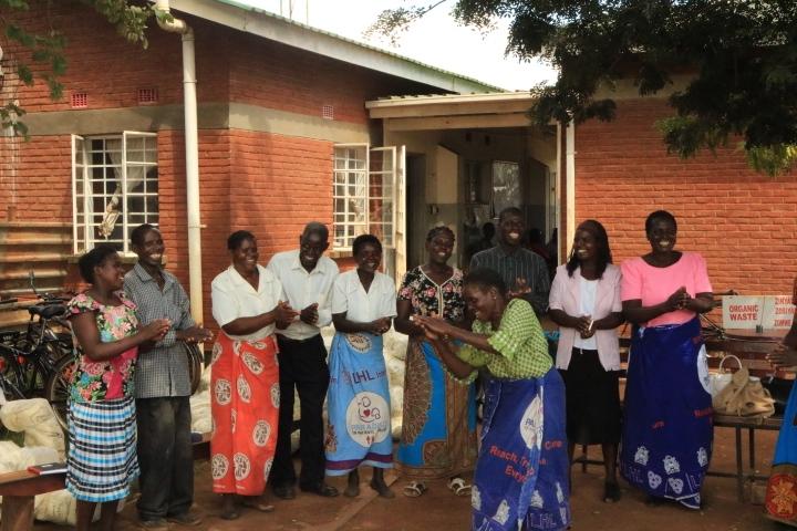 Area 25 Community Volunteers welcoming NEPAD team