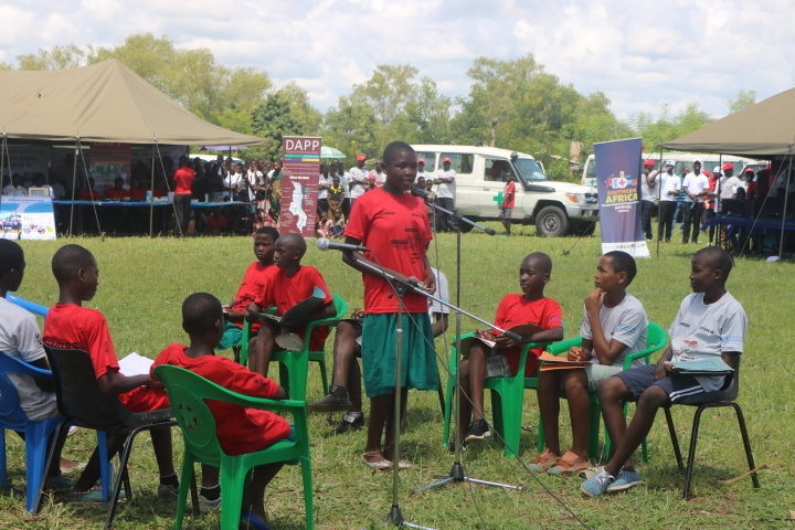 A drama performance on TB by school going children spicing the event
