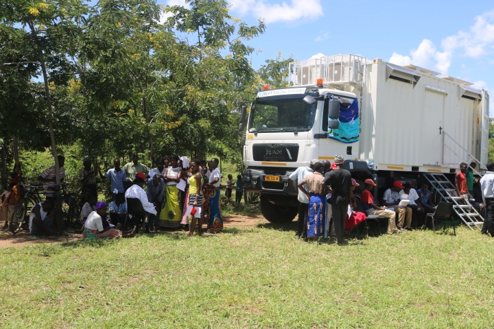 The Mobile Clinic was at hand to provide screening services