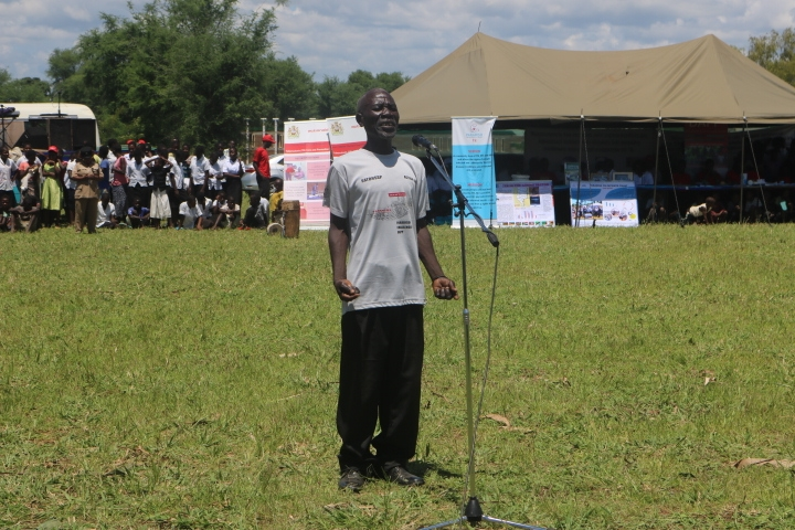 A Male TB survivor giving his testimony