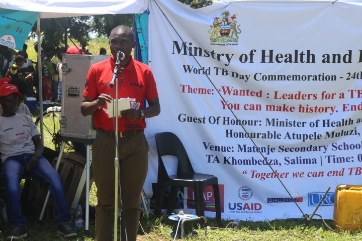 The Secretary of Health, Dr. Dan Namarika, givimg his speech